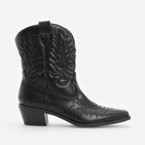 Reserved - LADIES` ANKLE BOOTS - Černý