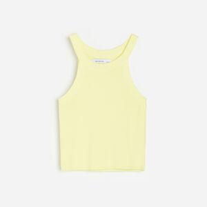 Reserved - Top z proužkované pleteniny - Žlutá