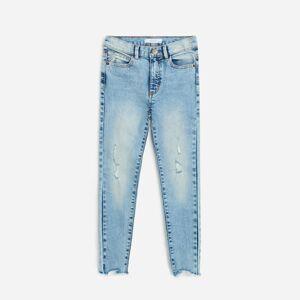 Reserved - Džíny skinny high waist - Modrá