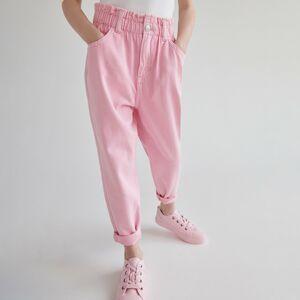 Reserved - Džíny slim fit - Růžová