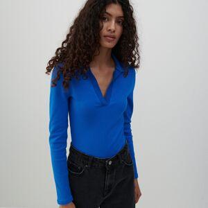 Reserved - Ladies` blouse body - Modrá