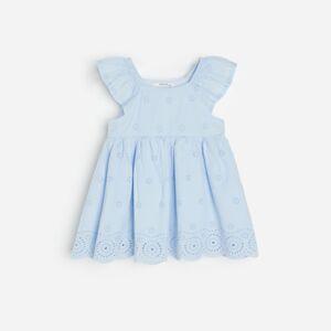 Reserved - Bavlněné šaty svýšivkou - Modrá