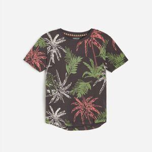 Reserved - Tričko s tropickým potiskem - Černý