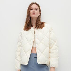 Reserved - Prošívaná bunda se zateplením zrecyklovaných látek - Krémová