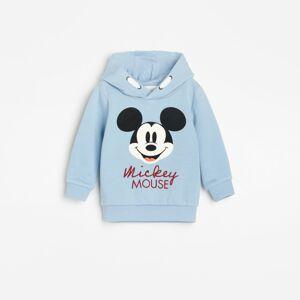 Reserved - Mikina skapucí apotiskem Mickey Mouse - Modrá