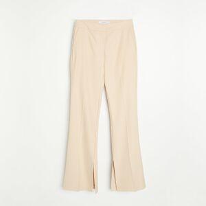 Reserved - Kalhoty s rovnými nohavicemi - Béžová