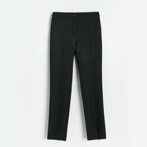 Reserved - Kalhoty sbočním rozparkem - Černý