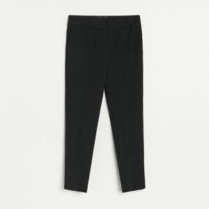 Reserved - Elegantní kalhoty snažehlenými puky - Černý