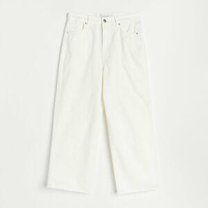 Reserved - Dámské jeans kalhoty - Bílá