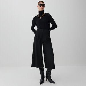Reserved - Kalhoty culottes - Černý