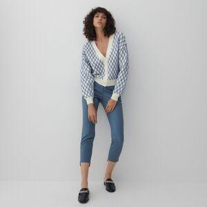 Reserved - Kalhoty s pukem - Modrá