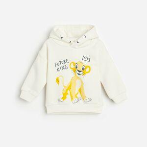 Reserved - Mikina svysokým podílem bavlny, kapucí amotivem Lion King - Krémová