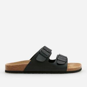 Reserved - Men`s strappy sandals - Černý