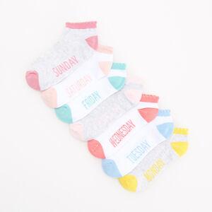 Reserved - Sada 7párů ponožek na každý den - Bílá