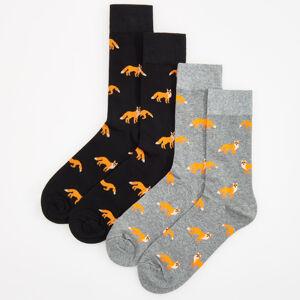 Reserved - Sada 2párů ponožek - Černý