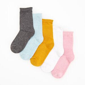 Reserved - 5 balení ponožek - Bílá
