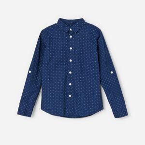 Reserved - Košile s tečkami - Tmavomodrá