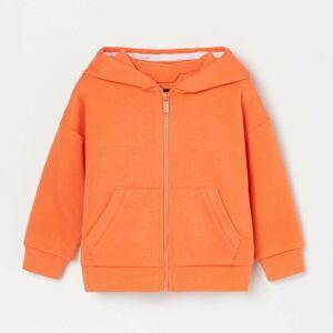Reserved - Mikina na zip s kapucí - Oranžová