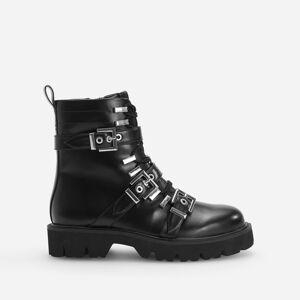 Reserved - Kotníkové boty s přezkami - Černý