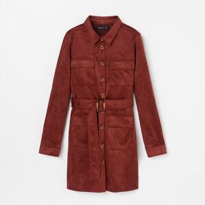Reserved - Košilové šaty zjemné látky - Růžová