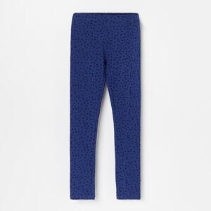 Reserved - Puntíkované legíny svysokým podílem bavlny - Modrá