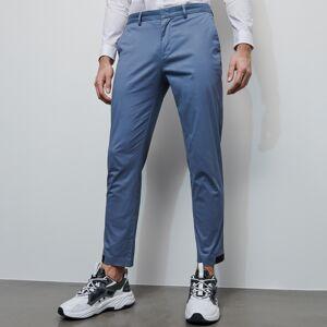 Reserved - Bavlněné kalhoty chino - Modrá
