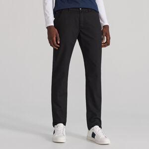 Reserved - Kalhoty chino ze strukturované látky - Černý