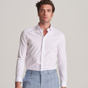 Reserved - Elegantní košile sknoflíkovou légou - Bílá
