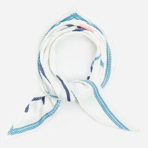 Reserved - Plisovaný šátek se vzorem - Bílá