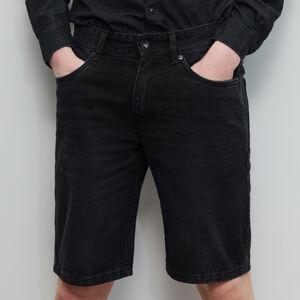 Reserved - Džínové šortky - Černý
