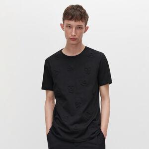 Reserved - Tričko se strukturovaným potiskem - Černý