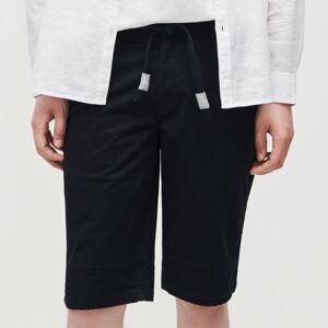 Reserved - Pánské šortky a pásek - Tmavomodrá