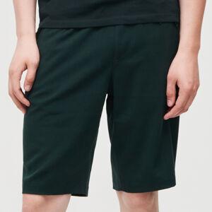 Reserved - Jednobarevné šortky - Zelená