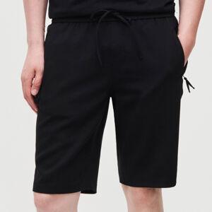 Reserved - Jednobarevné šortky - Černý