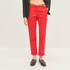 Reserved - Dámské kalhoty & pásek - Červená