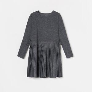 Reserved - Šaty s plisovanou spodní částí - Šedá