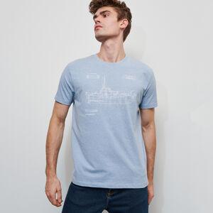 Reserved - Pánské tričko - Modrá