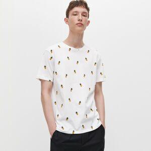 Reserved - Tričko sdrobným potiskem - Bílá