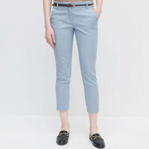 Reserved - Dámské kalhoty & pásek - Modrá