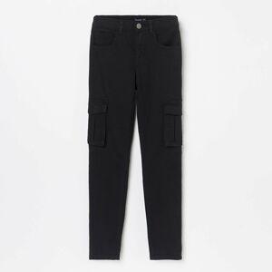 Reserved - Vypasované kalhoty scargo kapsami - Černý