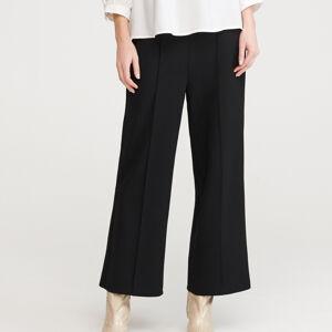 Reserved - Kalhoty se širokými nohavicemi - Černý