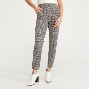 Reserved - Vzorované kalhoty - Béžová