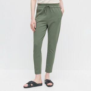 Reserved - Kalhoty s elastickým pasem - Khaki