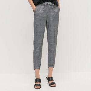 Reserved - Kalhoty s elastickým pasem - Černý