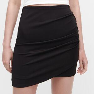 Reserved - Nabíraná sukně - Černý