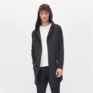Reserved - Dlouhá mikina svysokým podílem organické bavlny akapucí - Černý