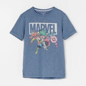 Reserved - Bavlněné tričko smotivem Marvel - Tmavomodrá
