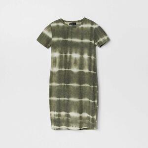 Reserved - Šaty sbatikovaným efektem - Zelená