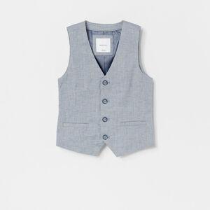 Reserved - Elegantní pruhovaná vesta - Světle šedá