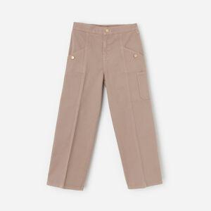 Reserved - Široké kalhoty cargo - Béžová